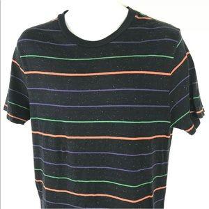 Vintage 80's / 90's Striped Tee Neon Vaporwave M